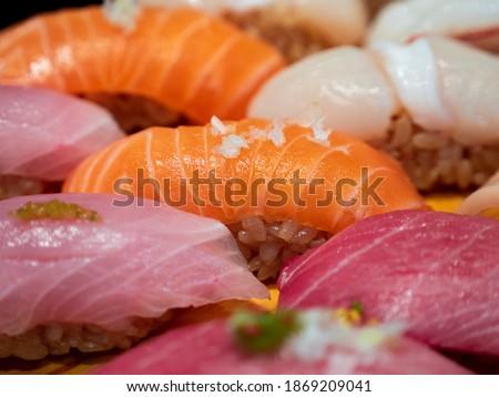 Fresh Sushi - Japanese cuisine (Salmon, Tuna, Toro)  Foto stock ©