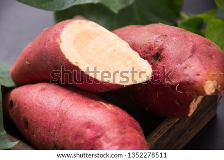 Fresh sweet potato sweet potato #1352278511