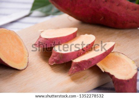 Fresh sweet potato sweet potato #1352278532