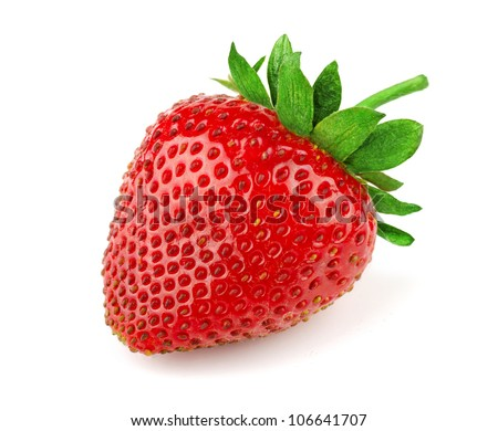 Fresh sweet strawberry isolated on white - stock photo