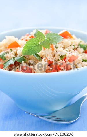 fresh tabouli with tomato