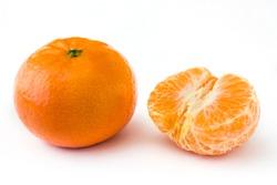 Fresh tangerine isolated on white background