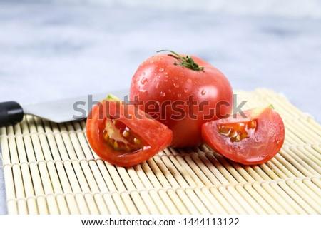 Fresh tomato and fresh vegetables  #1444113122