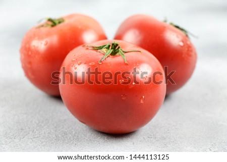 Fresh tomato and fresh vegetables  #1444113125