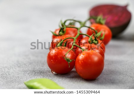 Fresh tomato and fresh vegetables  #1455309464