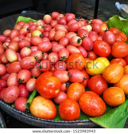 Fresh tomato in fresh market Bangkok Thailand #1523983943