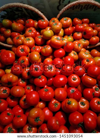 Fresh tomatoes from fresh market
