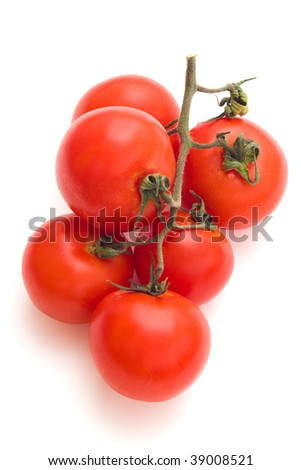 fresh tomatoes isolated with clipping path