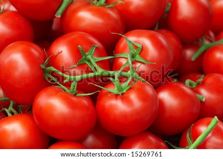 Fresh tomatoes on street market for sale