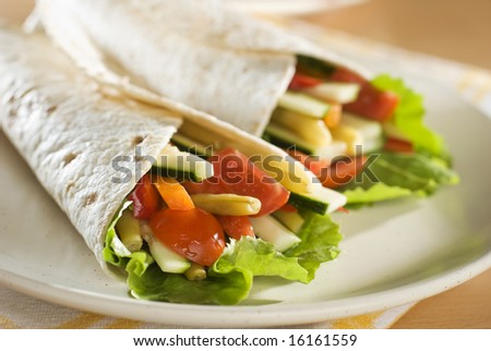 fresh tortilla on the plate close up shoot