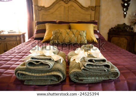 fresh towels at a bed and breakfast