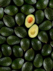Fresh tropical avocado fruit close up good for background