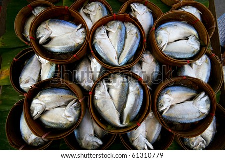 Fresh tuna in market, thailand