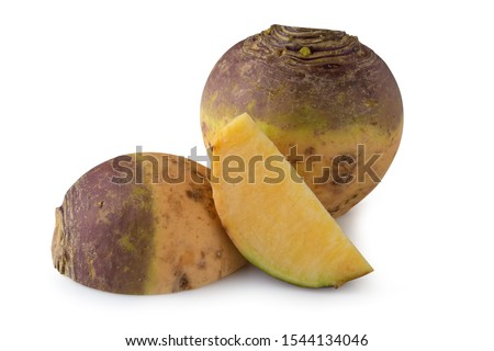 Fresh Turnip Swede isolated on white background. Foto d'archivio ©