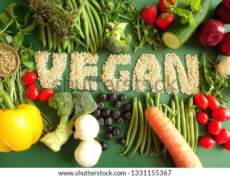 fresh vegan vegetables  #1331155367