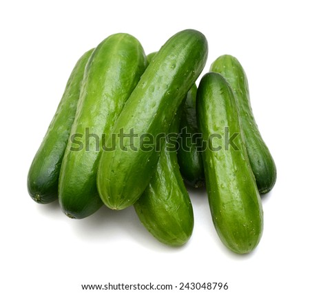 fresh vegetable cucumbers isolated on white background