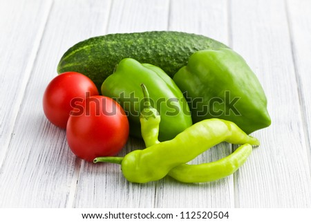 fresh vegetable on kitchen table