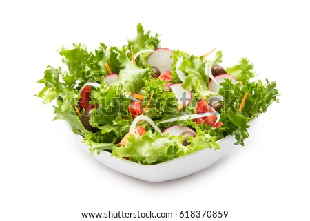 Fresh vegetable salad  #618370859