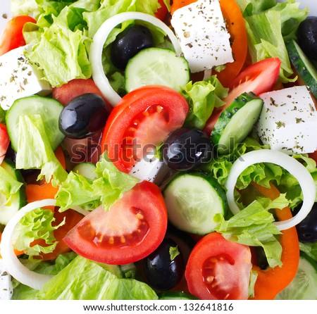 fresh vegetable salad,close-up
