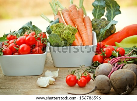 Fresh vegetables - Shutterstock ID 156786596