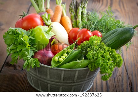 Fresh vegetables - Shutterstock ID 192337625