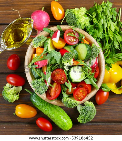 fresh vegetables and salad concept of healthy eating