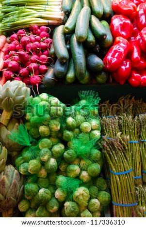 Fresh vegetables at the farmers market