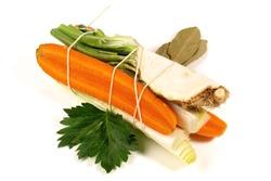 Fresh Vegetables - Bound Vegetable Bundle on white Background Isolated