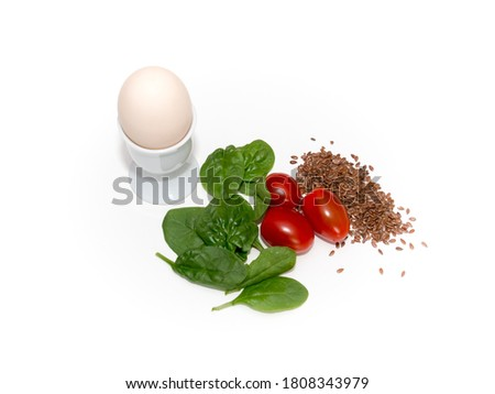 fresh vegetables, herbs and spices isolated on the white background Zdjęcia stock ©