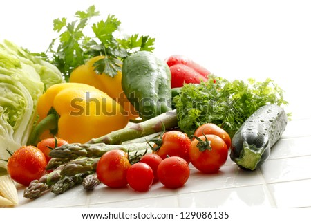 Fresh vegetables in the kitchen