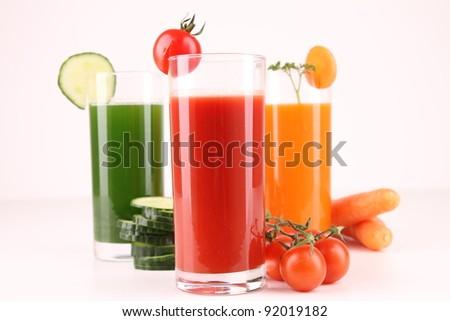 fresh vegetables juice