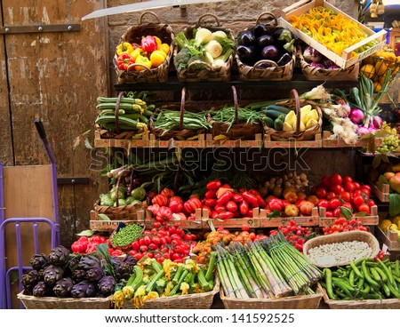 Fresh vegetables market, Florence, Italy
