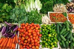 Fresh vegetables market, Luang pra bang, Laos