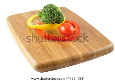 fresh vegetables on a cutting board