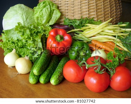 fresh vegetables on a table