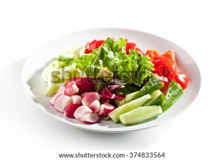 Fresh Vegetables Plate #374833564