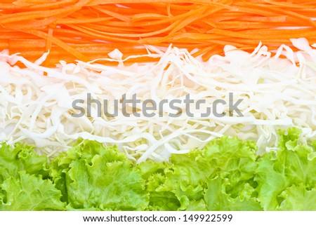 Fresh vegetables salad. Vegetables background.