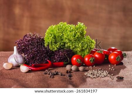 Fresh vegetables. Still vegetables. Green vegetables. Healthy food