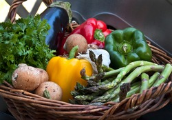 Fresh Vegetables That Are Ready To Be Processed Into Healthy Dishes. Nutritious Vegetarian Food, Make Your Body Healthier.