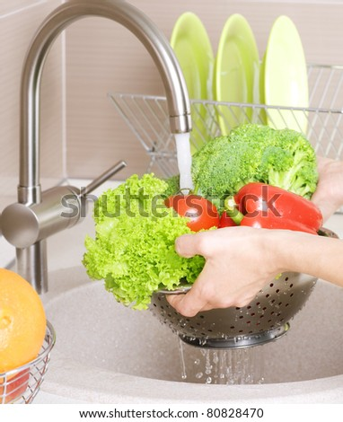 Fresh Vegetables Washing