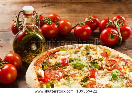 fresh vegetarian pizza