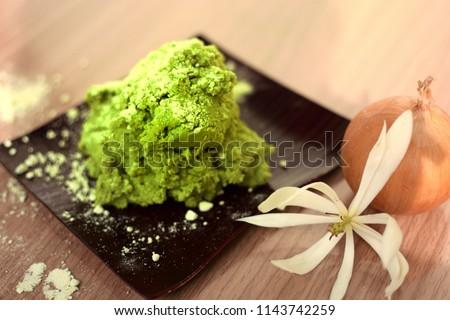 fresh wasabi,wasabi powder,ready to servf. Stock fotó ©