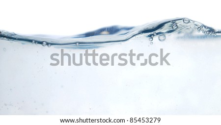 fresh water with bubbles (series)