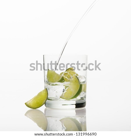 fresh water with lemon
