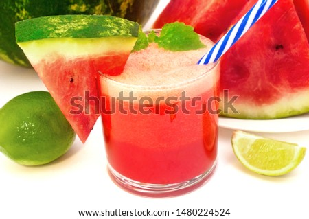 Fresh watermelon fresh with lime and mint #1480224524
