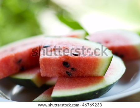 Fresh watermelon. Shallow DOF.