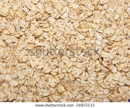 Fresh Whole Grain Oats Background.