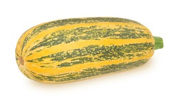 Fresh whole yellow vegetable marrow zucchini isolated on a white background. Clip art image for package design.