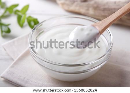 Fresh yogurt on the table ストックフォト ©