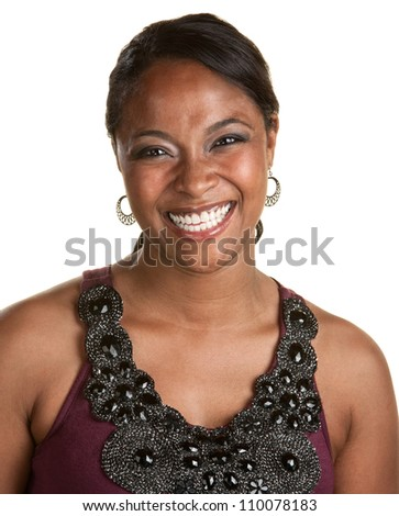 Fresh young African woman in sleeveless top